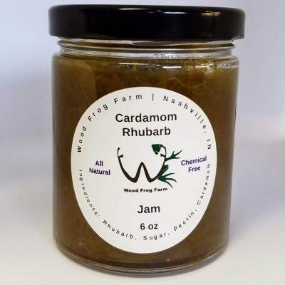 Jar Cardamom Rhubarb Jam